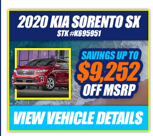 2020 Kia Sorento SX Savings Up To $9,252 Off MSRP