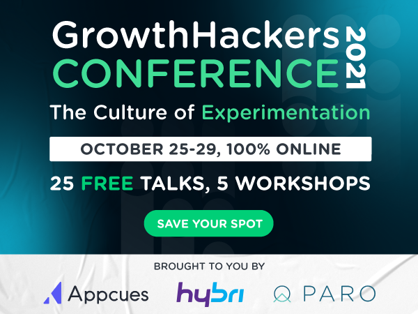 Sign up to the GrowthHackers Conference