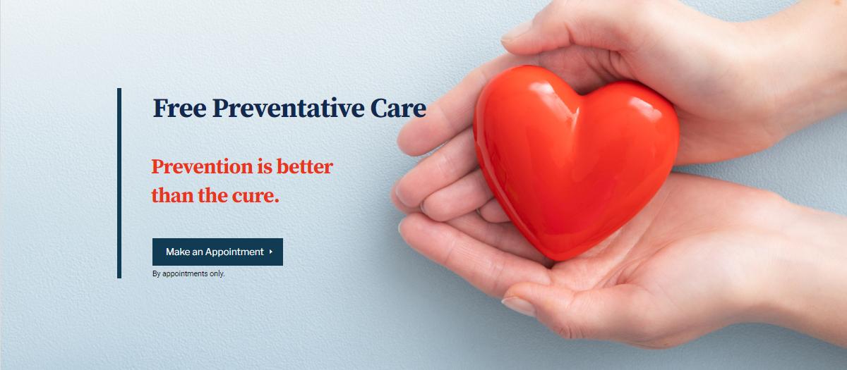 Free preventative care