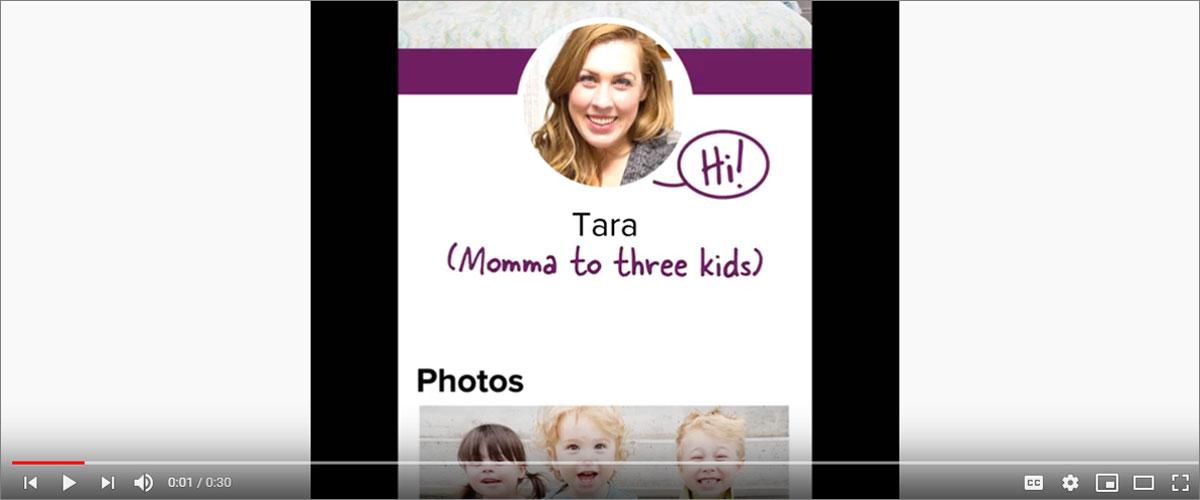 Screen shot of YouTube video. Hi! Tara (Momma to three kids) Photos
