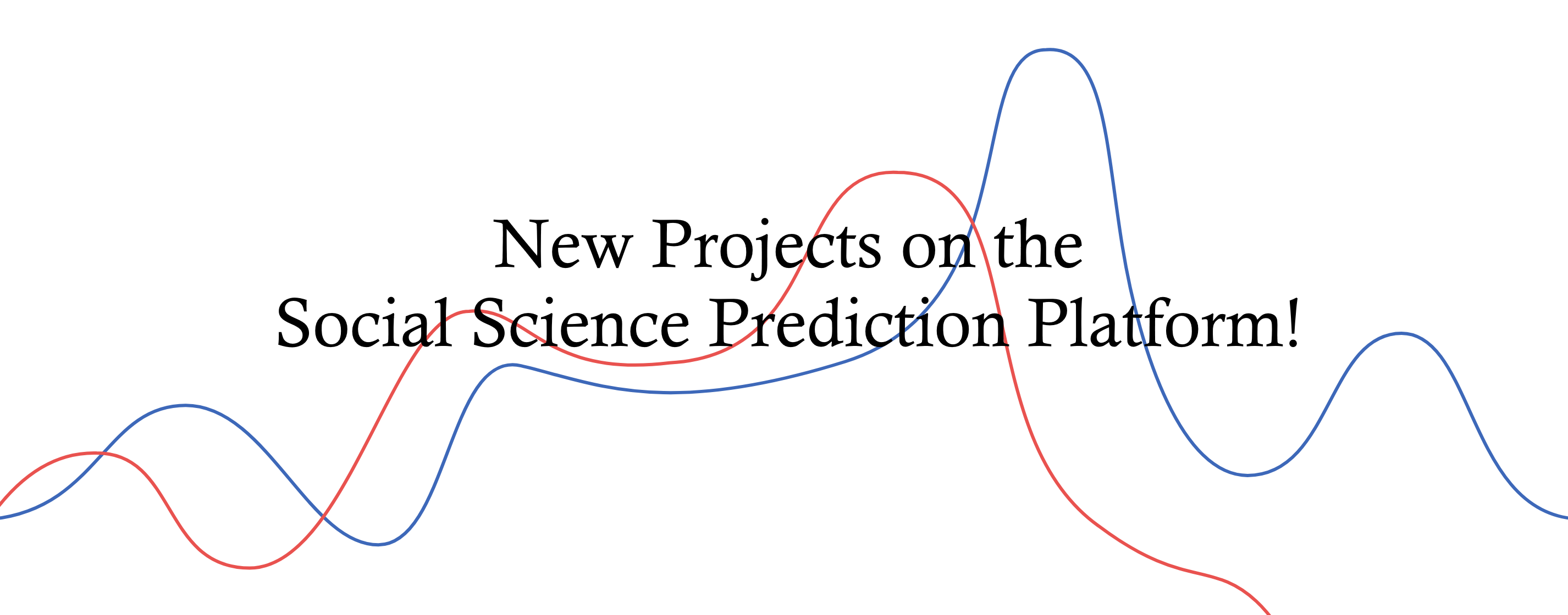 Banner: New Projects on the Social Science Prediction Platform