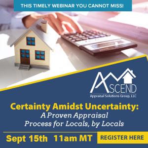 Ascend Appraisal Solutions Webinar